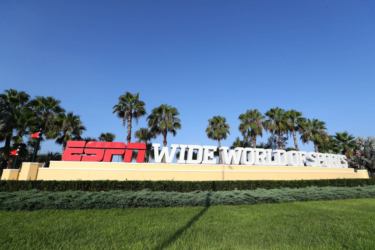 Detail view of the entrance of ESPN Wide World of Sports where they are hosting the NBA and MLS games for the summer due to COVID-19.