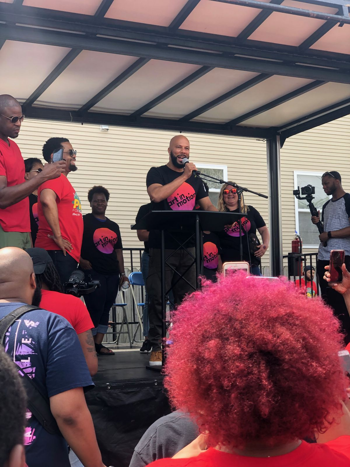 Common made a surprise appearance Satuday at the Prayer on the 9 anti-violence march.