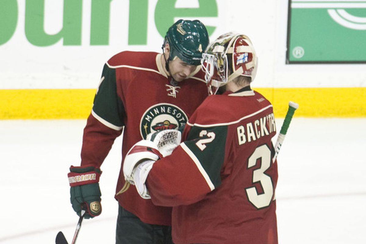Goalie nuzzles. Just for Heather.