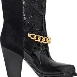 "Berlin high chain heel boot, $100 (was $650) via <a href=""http://www.lyst.com/shoes/31-phillip-lim-berlin-chain-high-heel-boot-black/""> Lyst </a>"