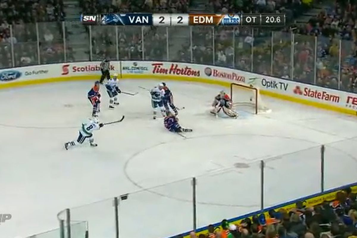 Was that Tanev? No way! It was!