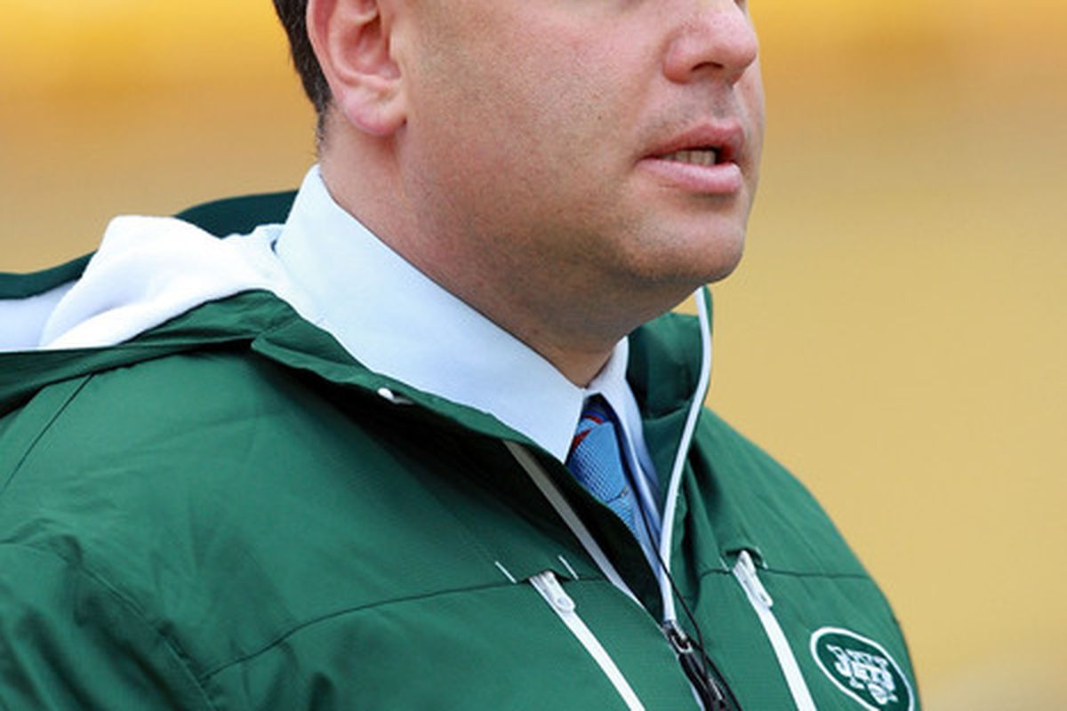 PITTSBURGH - DECEMBER 19:  General Manager Mike Tannenbaum of the New York Jets is seen before the game against the Pittsburgh Steelers at Heinz Field on December 19 2010 in Pittsburgh Pennsylvania.  (Photo by Karl Walter/Getty Images)