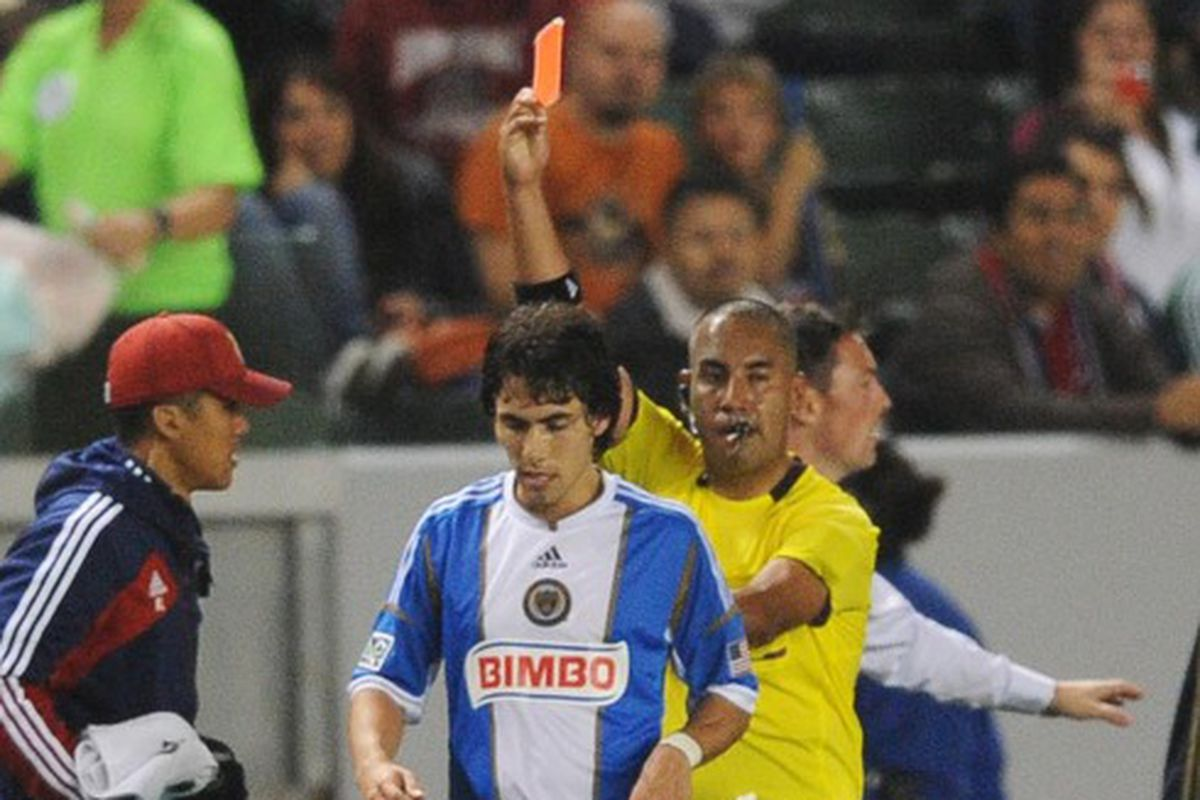 Oh yeah, Farfan got a red card last time he played Chivas USA.