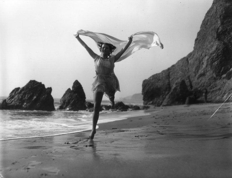Woman at Santa Monica Beach