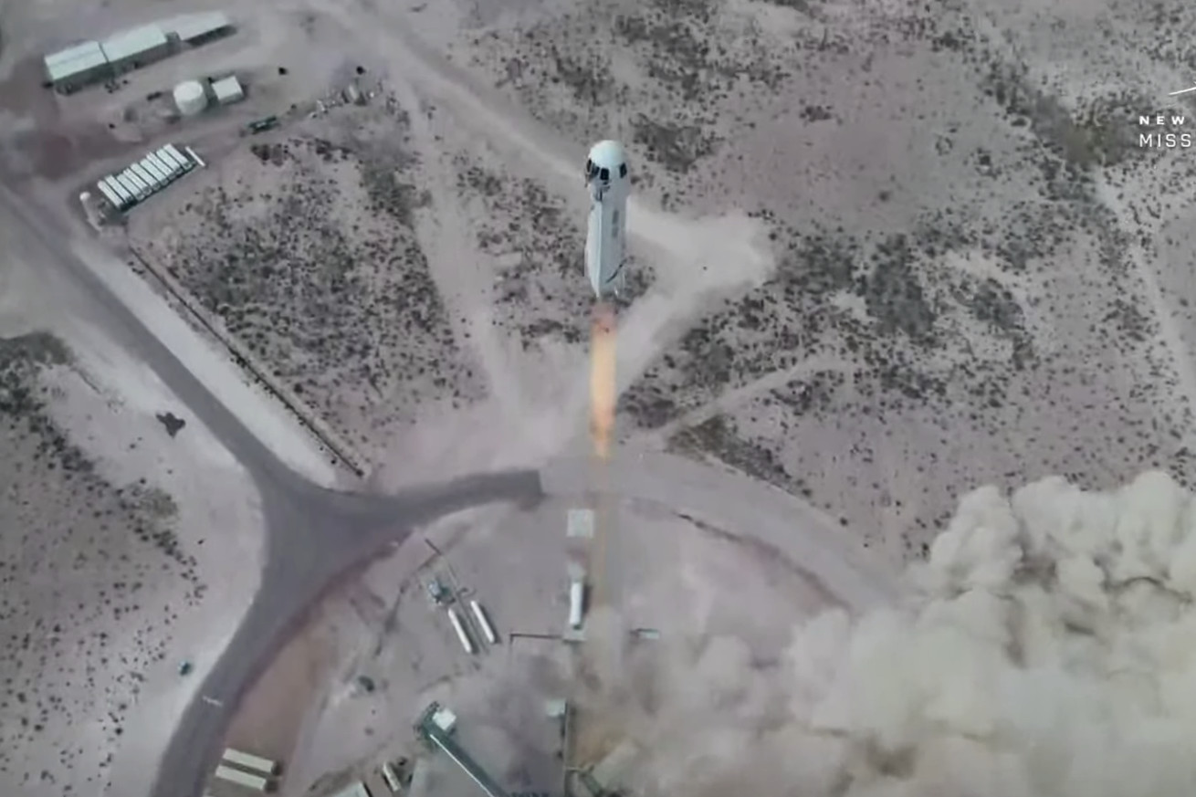 Jeff Bezos' Blue Origin launches New Shepard again, with first crewed flight 'soon'