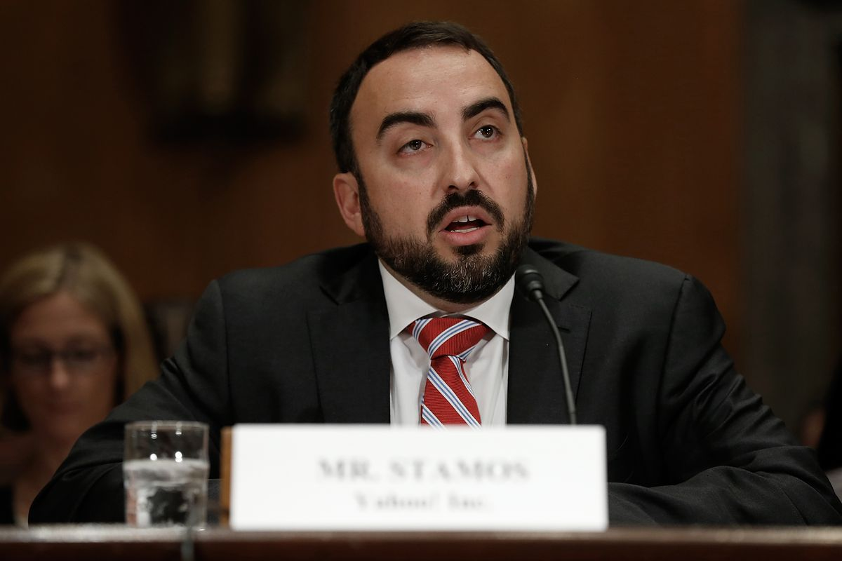 Facebook Chief Information Security Officer Alex Stamos testifying before the Senate Homeland Security Committee