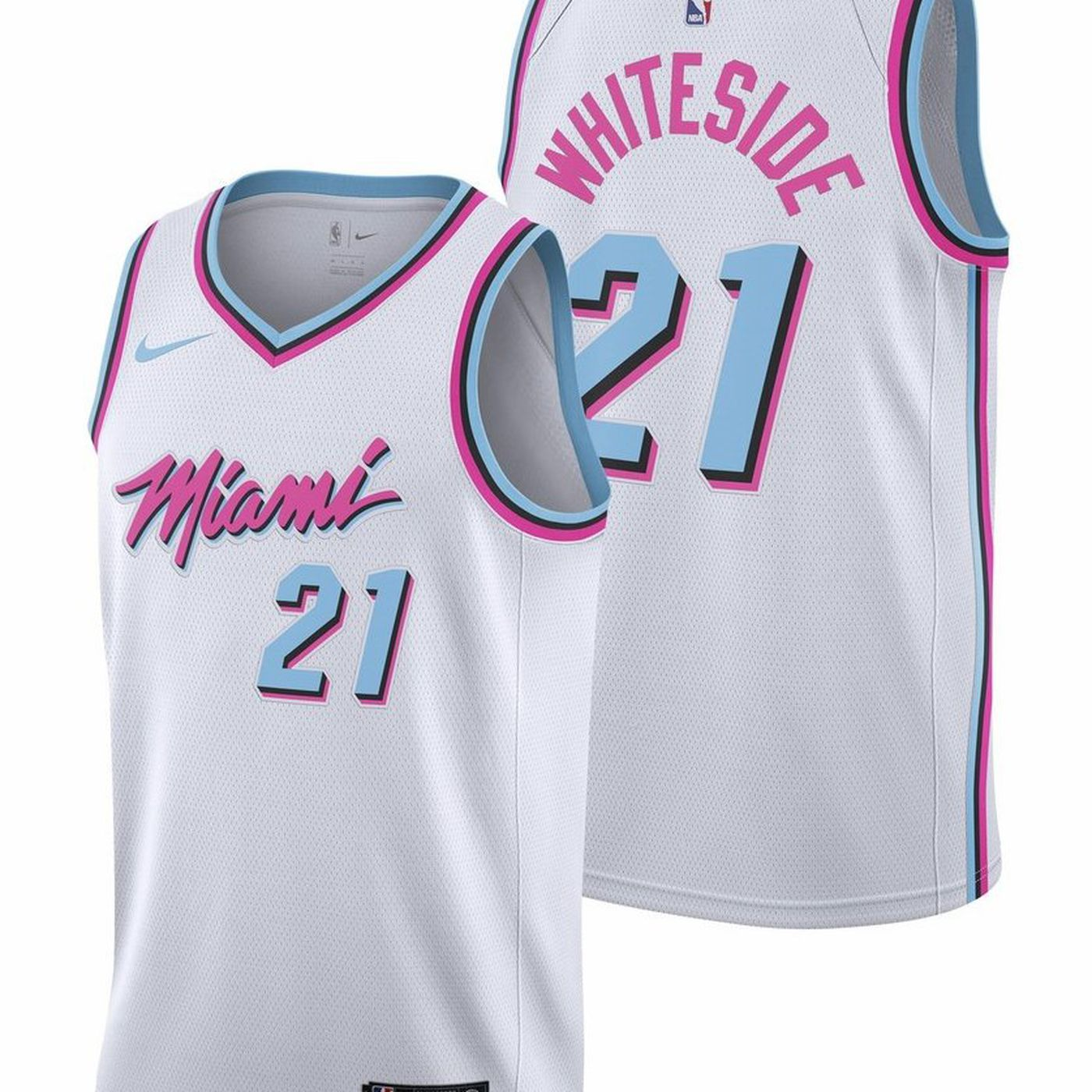 db0937c0781 ... usa miami heat vice jerseys unveiled e4385 bc345
