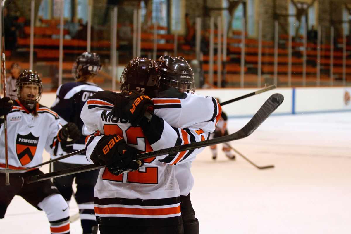 Mucha and her teammates celebrate during a game versus the University of New Hampshire during her senior year.