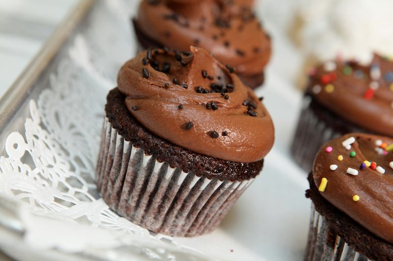 Chocolate cupcakes with chocolate buttercream at Magnolia Bakery. Magnolia Bakery Will Debut at Faneuil Hall in December   Eater Boston