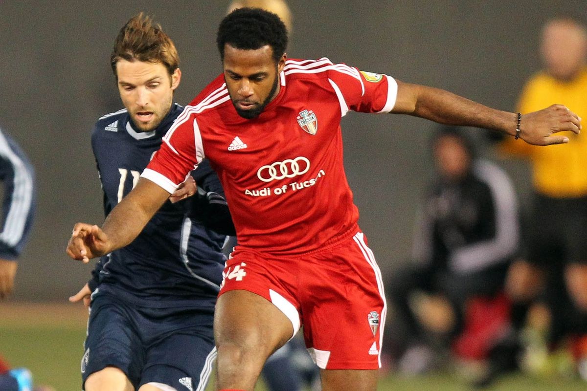 Kareem Smith (right) will likely see time for FC Tucson.