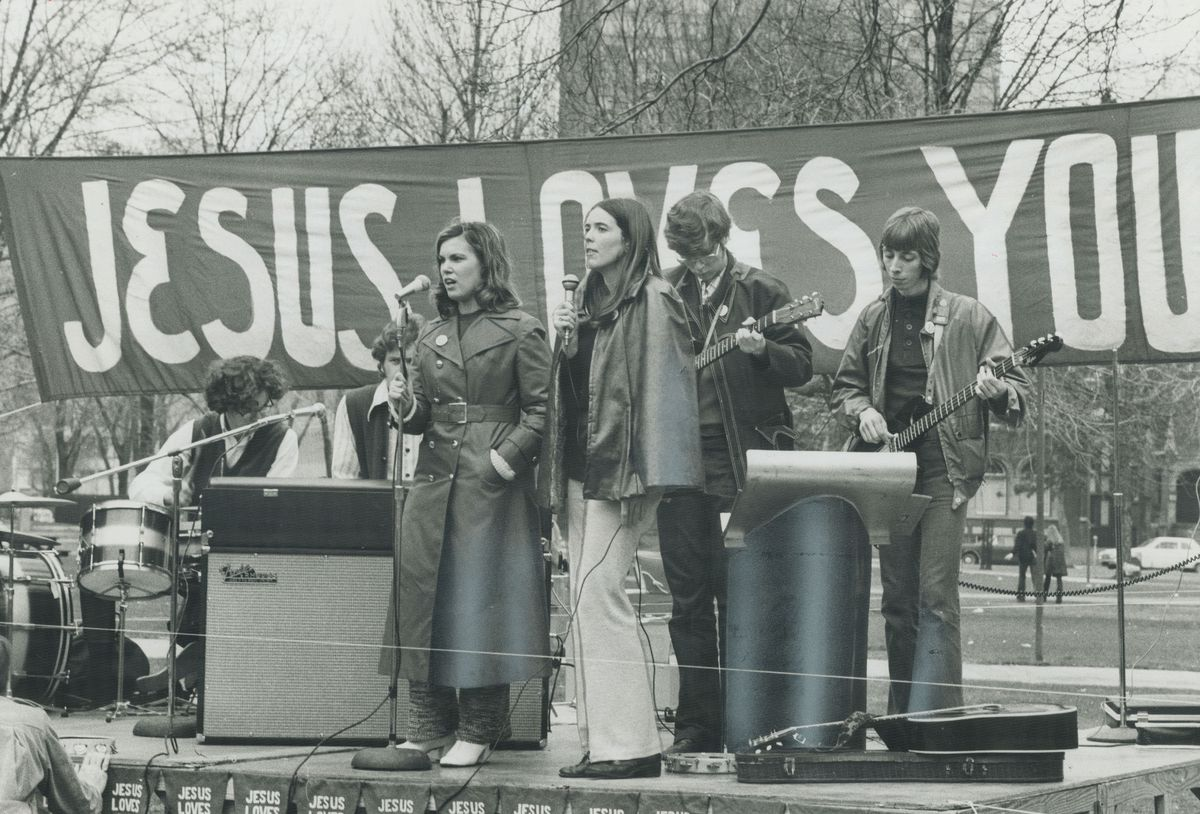 A Jesus People rally and concert in Toronto, May 1971.