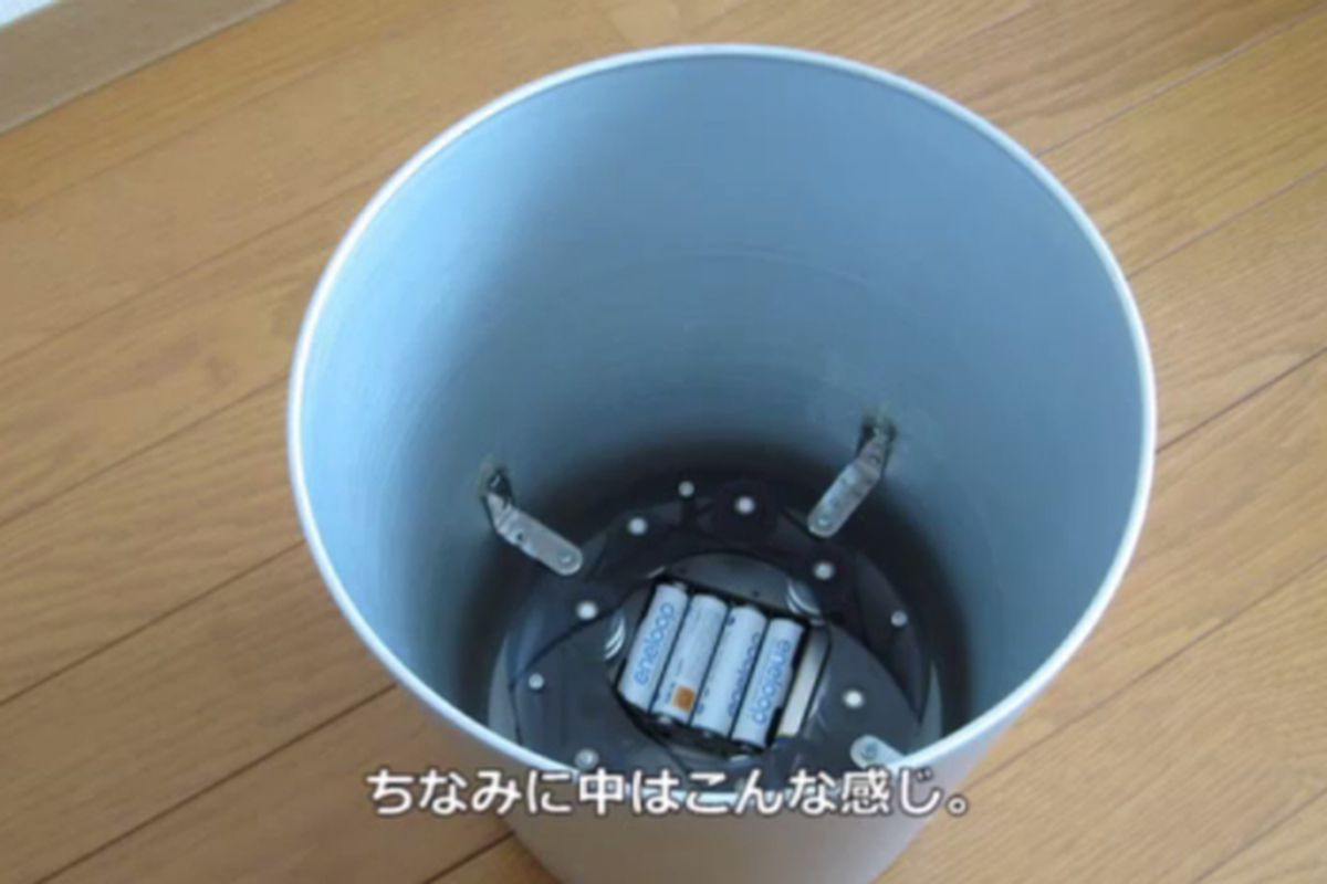 kinect trashcan