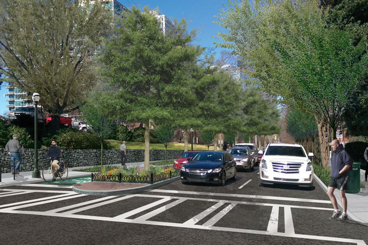 A rendering of the complete street transformation on Juniper Street in Midtown.