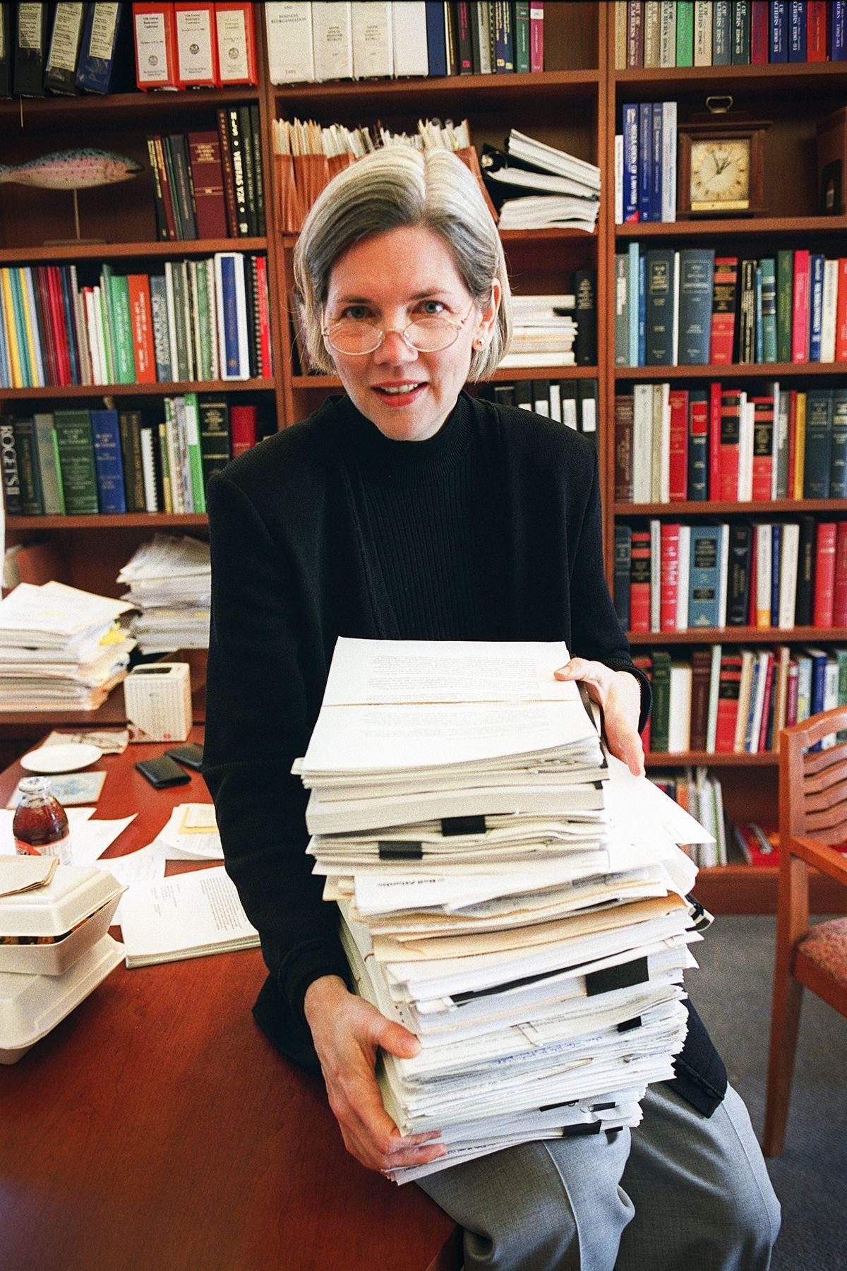 Professor Elizabeth Warren of Harvard Law on April 4, 2001.