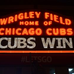 10:07 p.m. Marquee after the game -
