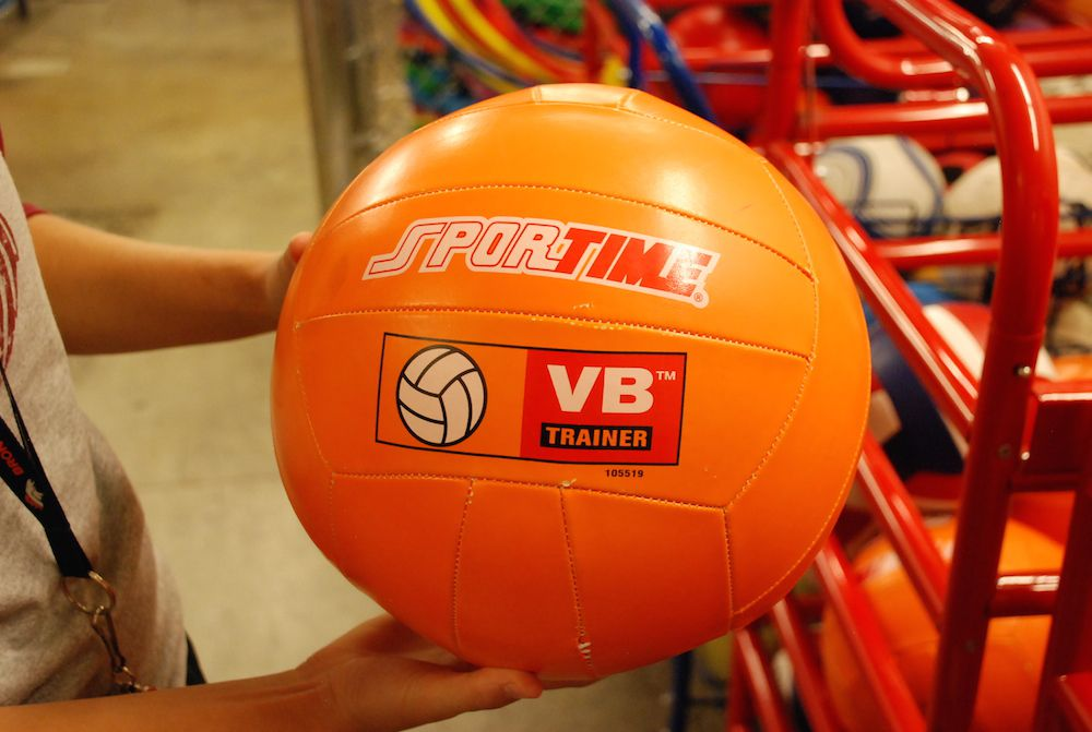 This ball is among $900 worth of modified sports equipment that Bruce Randolph School received with funding from the district's Health Agenda 2015.