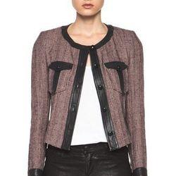 "<a href=""http://www.forwardforward.com/fw/DisplayProduct.jsp?code=ISAB-WO3&d=Womens"">Kacie Summer Tweed Jacket in Dusty Pink</a>, $554 (was $1,130)"