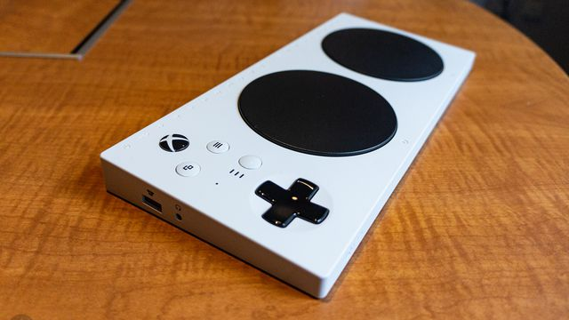 Xbox Adaptive Controller - left angle view from above