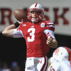 Nebraska quarterback Taylor Martinez (3) throws in the first half of an NCAA college football game against Idaho State, in Lincoln, Neb., Saturday, Sept. 22, 2012.