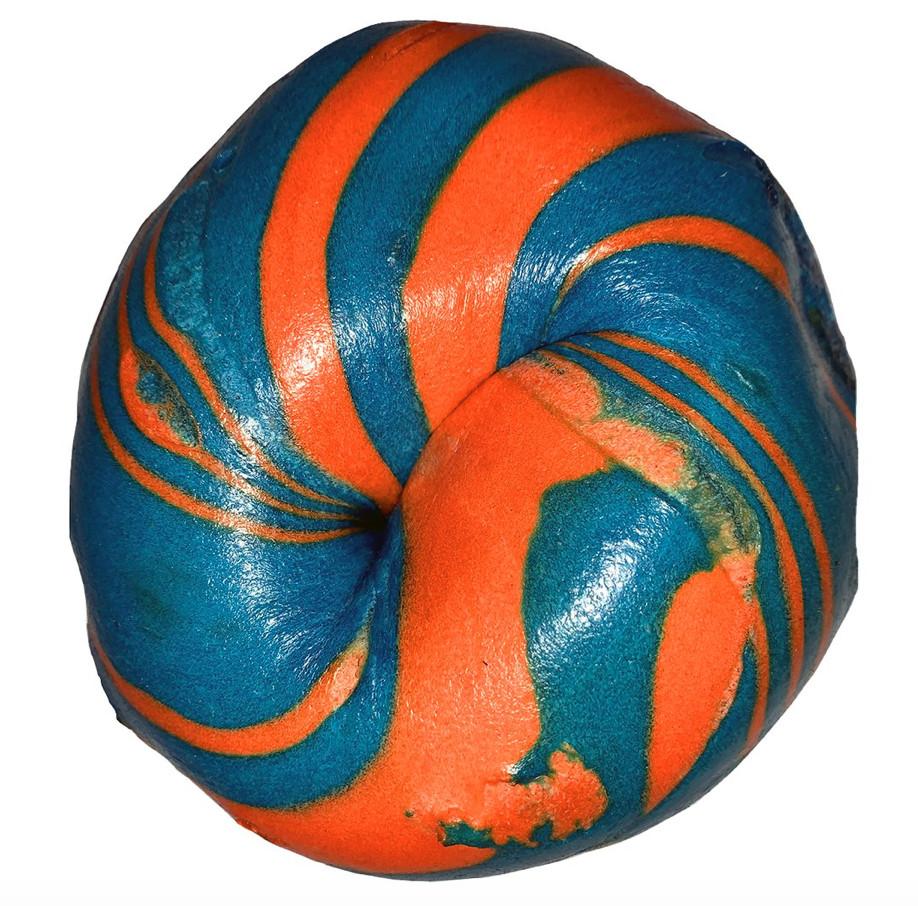 Bagel of the Month Club's Blue & Orange Bagel