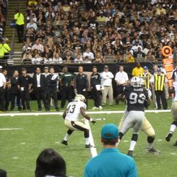 Sproles in the middle of making a cut back.