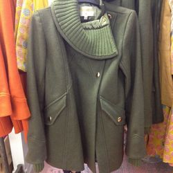 Phoenicia knit collar coat, $200