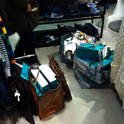 One couple's haul: four big bags