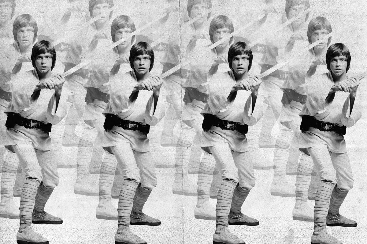 A photo illustration of many Luke Skywalkers