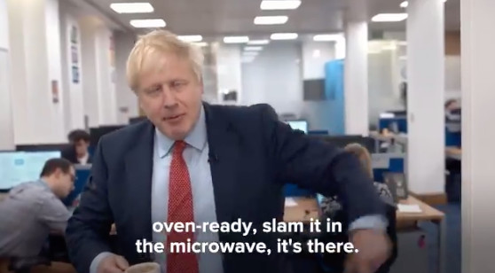 Boris Johnson talks about microwaves and oven-ready Brexit