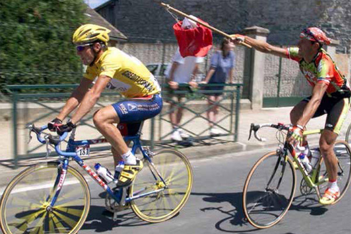 Toru de France 1999: Maillot Jaune Lance Aranstrong, Lanterne Rouge Jacky Durand.