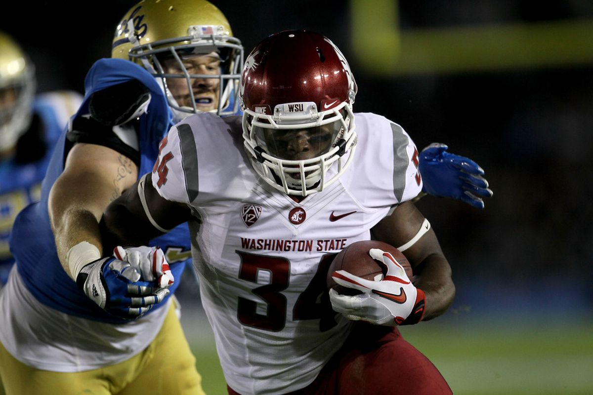 The WSU Cougars leaned heavily on Logwone Mitz and the rest of the rushing attack for the first time all year in an effort to shorten the game against UCLA. And it very nearly worked.
