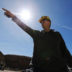 Dan Baker, CEO and president of the Bronco Utah Mine, talks about work being done at the mine near Emery on Wednesday, March 29, 2017.