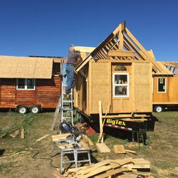 The Rev. John Floberg's two Episcopal congregations in Sioux County, North Dakota, are building tiny homes that will share the church lot.