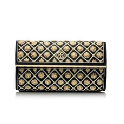 """<strong>Tory Burch</strong> Embellished Bria Clutch, <a href=""""http://www.toryburch.com/embellished-bria-clutch/31149569.html"""">$395</a>"""