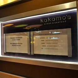 All that remanins of Kokomo's is their former menu sign.