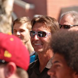 Former Trojan Randy Johnson was in attendance with his daughter.