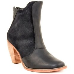 """<b>J Shoes</b> Ranch 2 leather and suede black ankle boots, <a href=""""http://shoemarketnyc.com/shop/shoes/type/women/j-shoes-ranch-2-black"""">$195</a> at Shoe Market"""