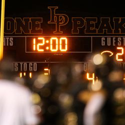 Lone Peak takes on Corner Canyon during a high school football game at Lone Peak High School in Highland on Thursday, Sept. 24, 2020.