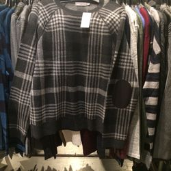 Elbow patch sweater, size XL, $49 (was $395)