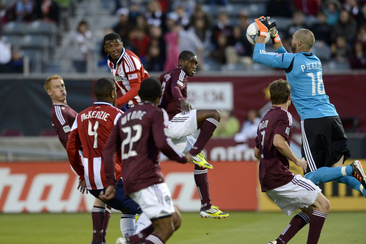 April 28, 2012; Commerce City, CO, USA; How can Chivas start scoring in earnest? Mandatory Credit: Ron Chenoy-US PRESSWIRE