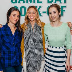 Eater LA's Kat Odell with Union Square Hospitality Group's Rebecca Carlisle and friend