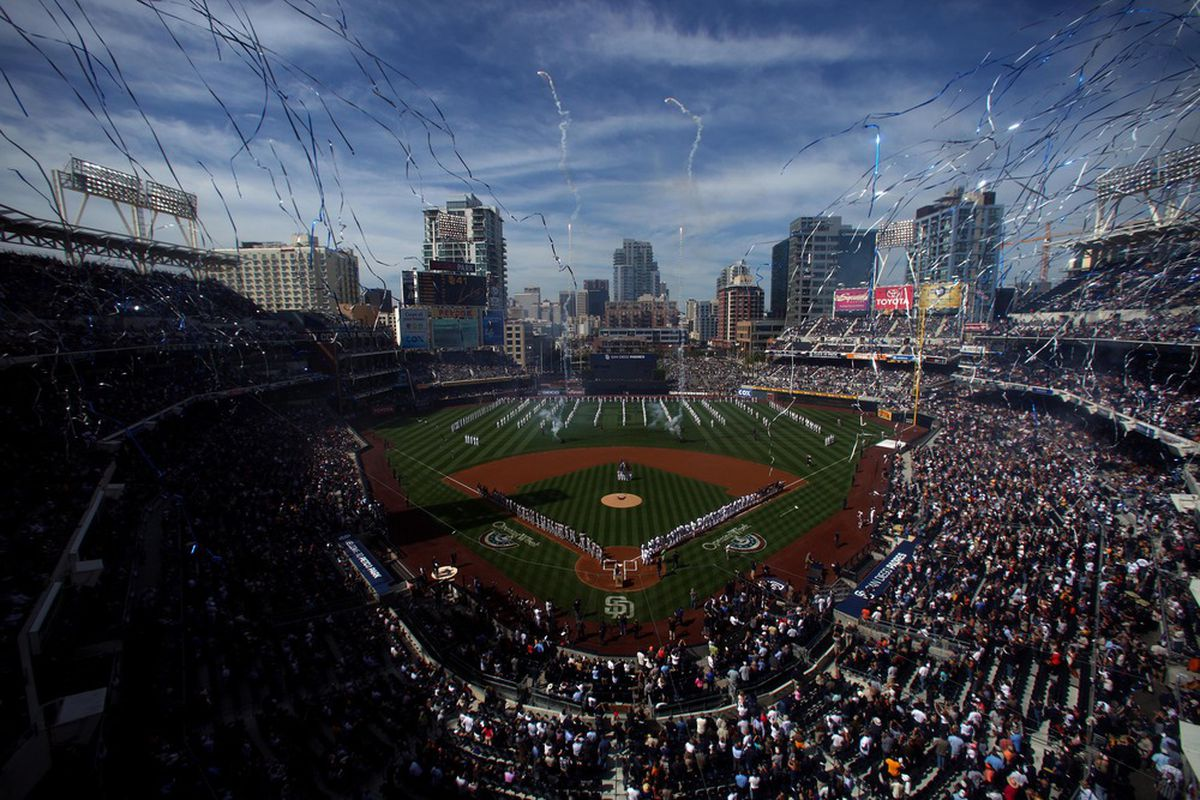 SAN DIEGO, CA - APRIL 5:  A general view of Petco Park during the San Francisco Giants vs. the San Diego Padres MLB Game at Petco Park on April 5, 2011 in San Diego, California. (Photo by Donald Miralle/Getty Images)