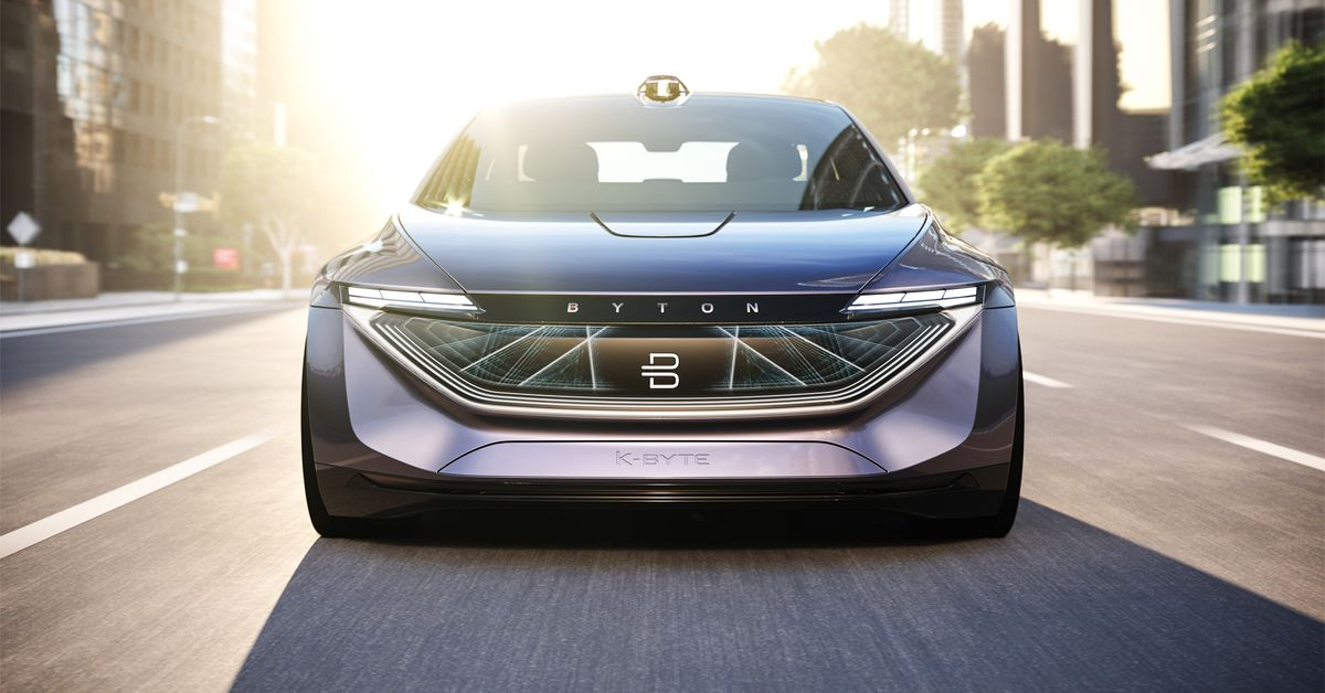 Byton teases a fully autonomous electric sedan due in 2021
