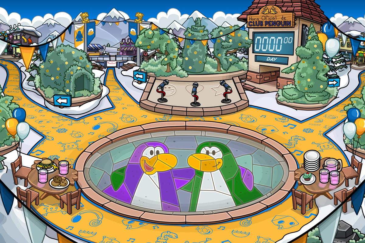 Club Penguin Island town square