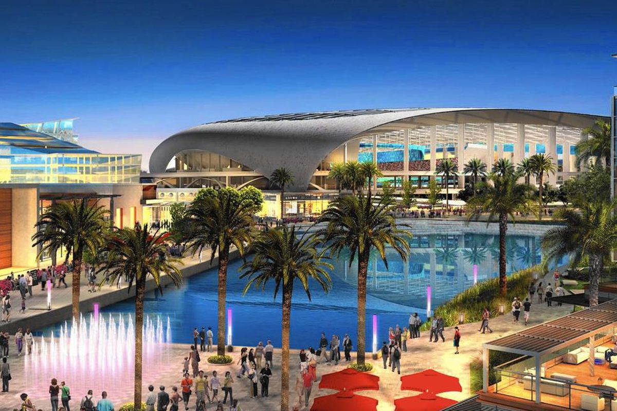 Artist's rendering shows the planned City of Champions Revitalization Project in Inglewood, California