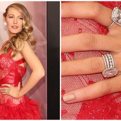 From its oval cut to its soft pink shade, everything about Blake Lively's 12-carat ring from Ryan Reynolds matches her famously feminine aesthetic.