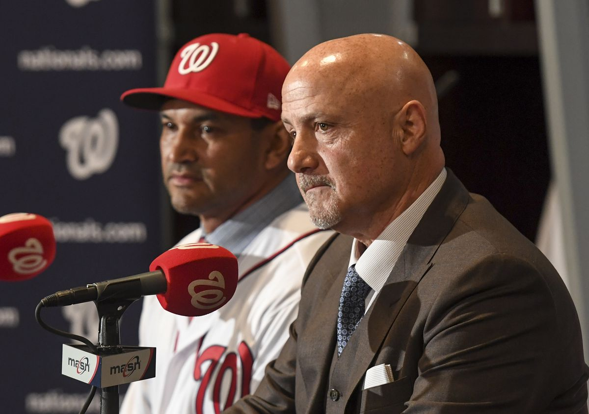 The Washington Nationals introduce Dave Martinez as their new manager.