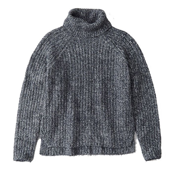 Blue knit sweater from Abercrombie & Fitch
