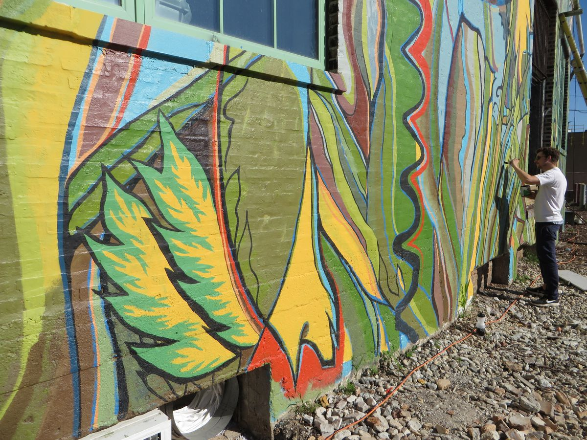 A closer look at the mural at 1400 W. 46th St.