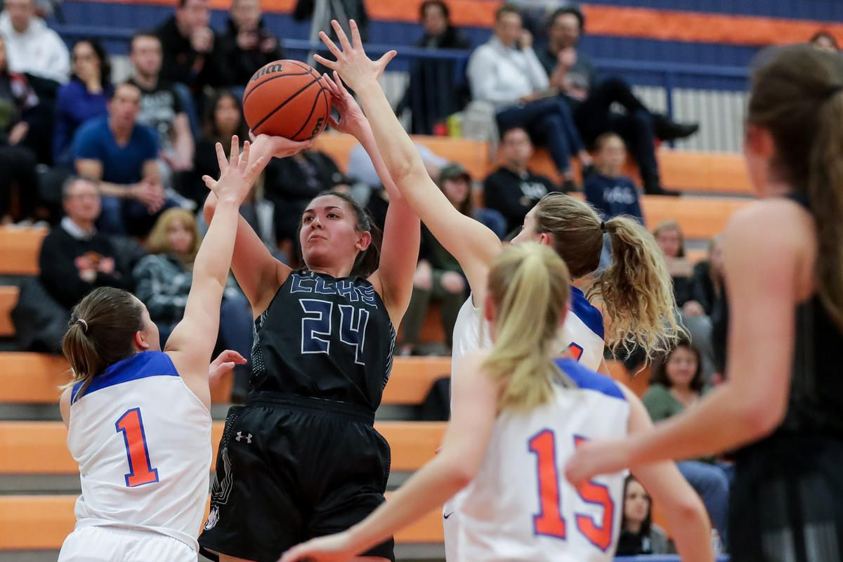 Timpview and Corner Canyon compete in a girls basketball game at Timpview High School in Provo on Tuesday, Jan. 15, 2019.